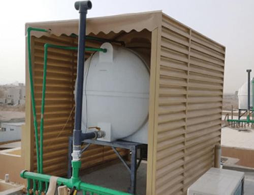 مظلات خزانات مياه تركيب مظله تغطية خزان المياه 0578433122