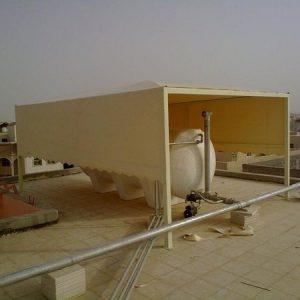 تركيب مظلات لخزان الماء في خميس مشيط وابها
