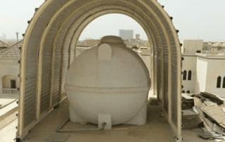 مظله حديد تغطية خزان المياه في جازان