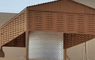 مظلات خزان مياه من الخشب المجول في ابها وحايل