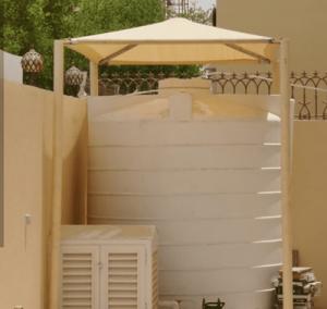 تركيب مظلة خزان الماء في صبيا