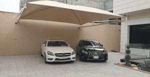 مظلات سيارات معلقه في جازان