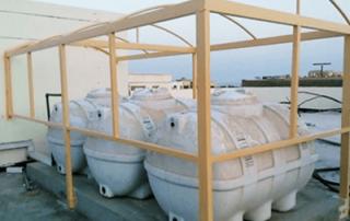 مظلات تغطية الخزان العلوي في الرياض والدمام