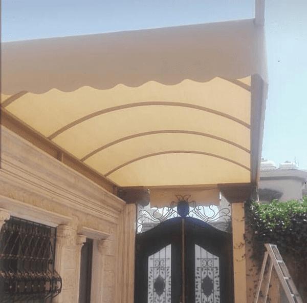 تركيب مظلات مداخل المنازل والفلل و الفنادق والشركات في محايل عسير وجازان ونجران والباحة